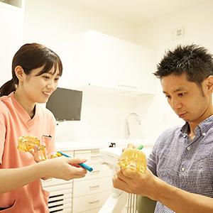 歯科衛生士担当制と丁寧な説明